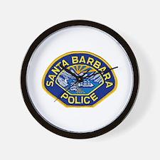 Santa Barbara PD Wall Clock