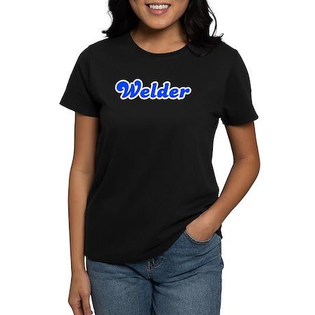 Retro Welder (Blue) Women's Dark T-Shirt