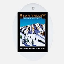 Bear Valley Resort - Oval Ornament