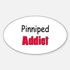 Pinniped Addict Oval Decal