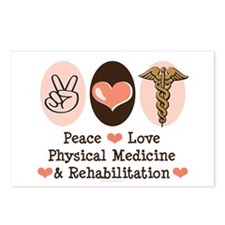 Peace Love PM&R Doctor Postcards (Package of 8)