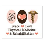 Peace Love PM&R Doctor Small Poster