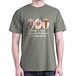 Peace Love PM&R Doctor Dark T-Shirt