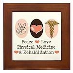 Peace Love PM&R Doctor Framed Tile