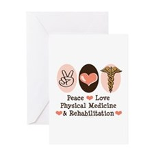 Peace Love PM&R Doctor Greeting Card