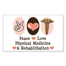 Peace Love PM&R Doctor Rectangle Decal