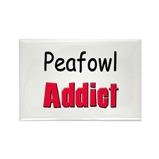 Peafowl Addict Rectangle Magnet