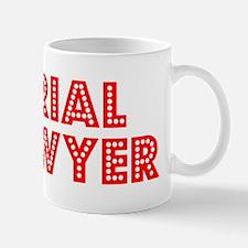 Retro Trial Lawyer (Red) Mug