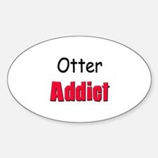 Otter Addict Oval Decal