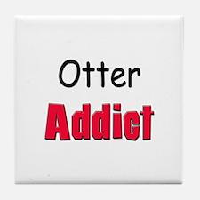 Otter Addict Tile Coaster