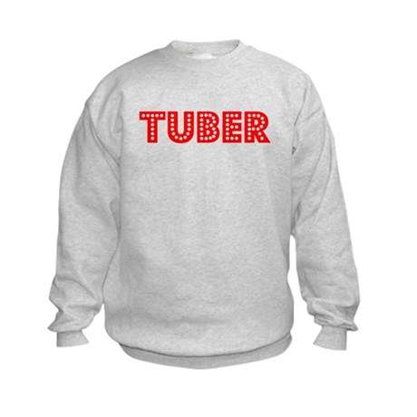Retro Tuber (Red) Kids Sweatshirt