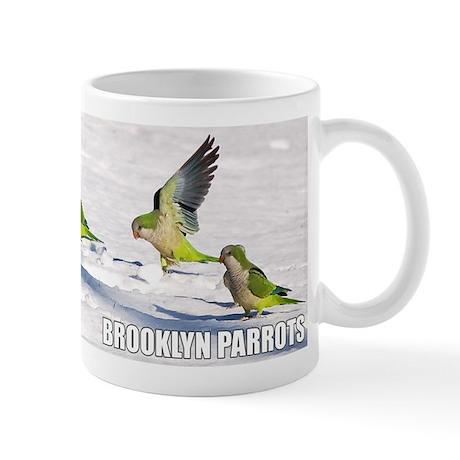 Wild Quaker Parrots in the Snow Coffee Mug