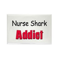 Nurse Shark Addict Rectangle Magnet