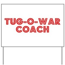 Retro Tug-o-war C.. (Red) Yard Sign