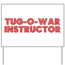 Retro Tug-o-war I.. (Red) Yard Sign