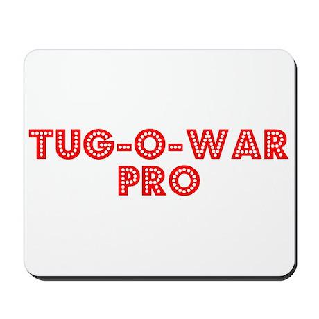 Retro Tug-o-war Pro (Red) Mousepad