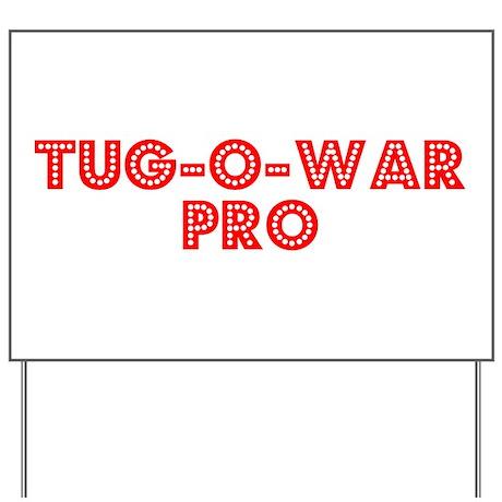 Retro Tug-o-war Pro (Red) Yard Sign