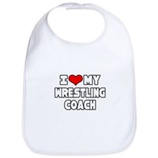 """I Love My Wrestling Coach"" Bib"