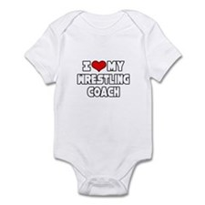 """I Love My Wrestling Coach"" Infant Bodysuit"