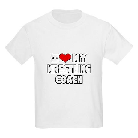 """I Love My Wrestling Coach"" Kids Light T-Shirt"