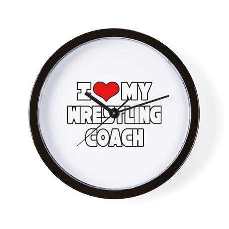 """I Love My Wrestling Coach"" Wall Clock"