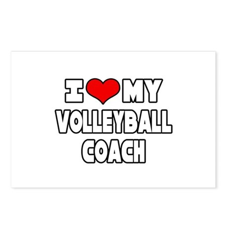 """I Love My Volleyball Coach"" Postcards (Package of"