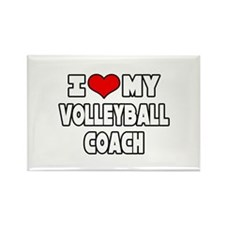 """I Love My Volleyball Coach"" Rectangle Magnet"