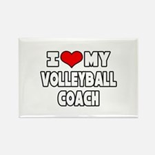 """""""I Love My Volleyball Coach"""" Rectangle Magnet (10"""