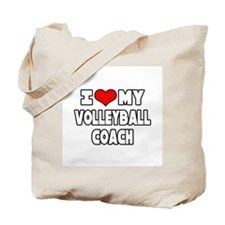 """I Love My Volleyball Coach"" Tote Bag"