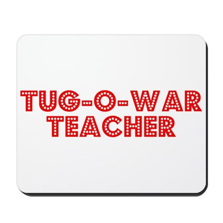 Retro Tug-o-war T.. (Red) Mousepad