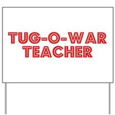 Retro Tug-o-war T.. (Red) Yard Sign