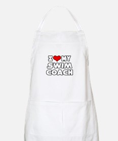 """I Love My Swim Coach"" BBQ Apron"