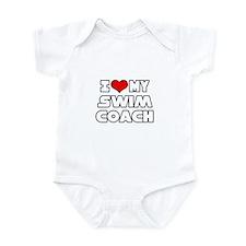 """""""I Love My Swim Coach"""" Infant Bodysuit"""