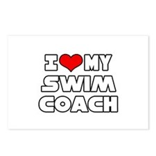 """I Love My Swim Coach"" Postcards (Package of 8)"