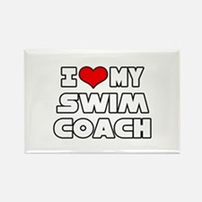 """I Love My Swim Coach"" Rectangle Magnet"