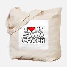 """I Love My Swim Coach"" Tote Bag"