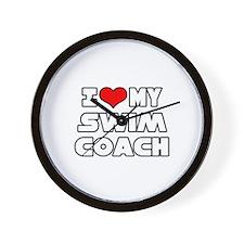 """I Love My Swim Coach"" Wall Clock"