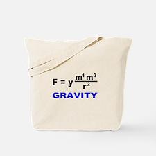 Law of Gravitation/E=mc2 Tote Bag