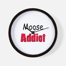 Moose Addict Wall Clock