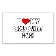 """""""I Love My X-Country Coach"""" Rectangle Decal"""