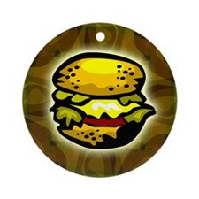 Cheeseburger T-shirt Ornament (Round)