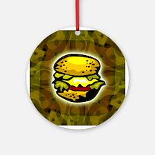 Cheeseburger T-shirt Ornament (Round)