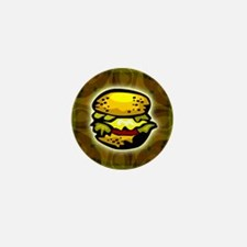 Cheeseburger T-shirt Mini Button