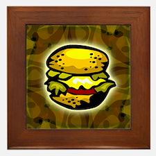 Cheeseburger T-shirt Framed Tile