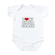 """I Love My Cheer Coach"" Infant Bodysuit"