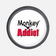 Monkey Addict Wall Clock