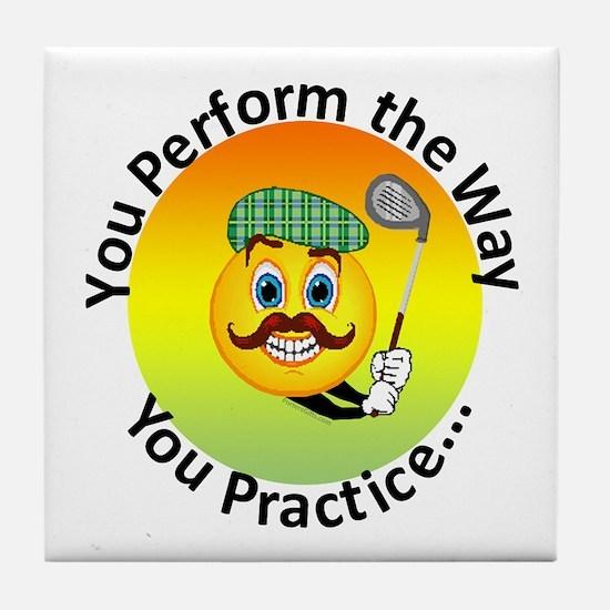 Golf Tile Coaster - Perform