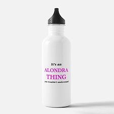 It's an Alondra th Sports Water Bottle