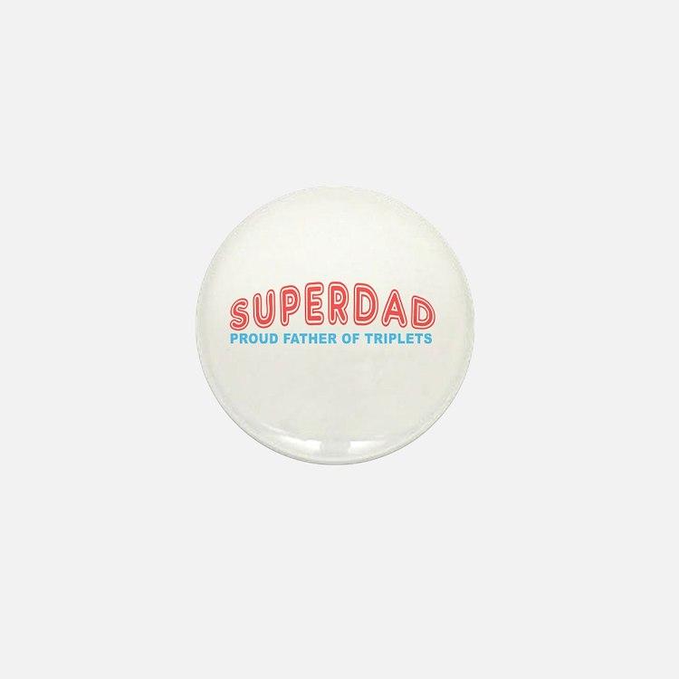 Triplets_SuperDad Mini Button