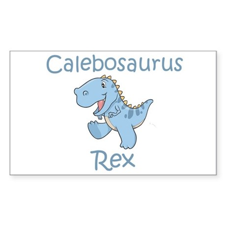 Calebosaurus Rex Rectangle Sticker